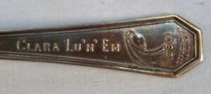 Science-Court-Clara-Lu-N-Em-Chicago-Worlds-Fair-1933-Decorative-Souvenir-Spoon-O
