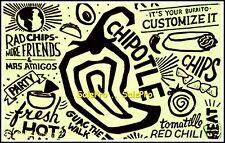 CHIPOTLE 2014 USA MAS AMIGOS TORMOTILLO BURRITO CHIPS RARE COLLECTIBLE GIFT CARD