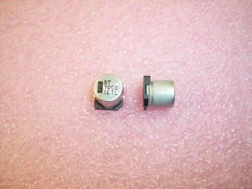 QTY 10 1000uf  25V 105/' SMD ELECTROLYTIC 25TLV1000M12.5X13.5 RUBYCON ROHS