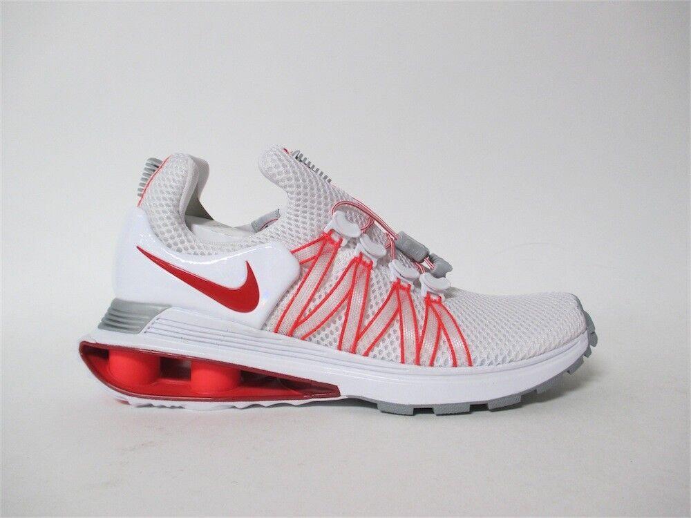 Nike Womens Shox Gravity White University Red Sz 8 AQ8554-106