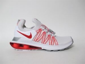 Nike Womens Shox Gravity White University Red Sz 6.5 AQ8554-106