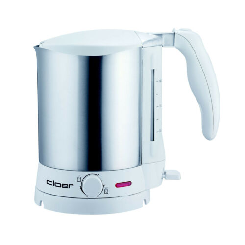 Cloer Bollitore 8011 Bianco temperatura scelta in acciaio inox 1,5 LITRI NUOVO B-Ware