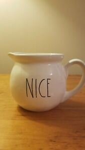 Rae-Dunn-NICE-Creamer-Pitcher-Small-Artisan-Collection-By-Magenta-Ivory-Black