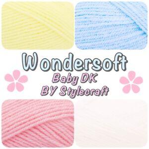 Stylecraft-Wondersoft-BABY-DK-Soft-Pastel-Acrylic-Double-Knitting-Yarn-Wool-100g