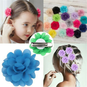 20-Colors-Cute-Kids-Soft-Big-Flower-Hair-Clips-Hairgrips-Multi-Color-Headwear
