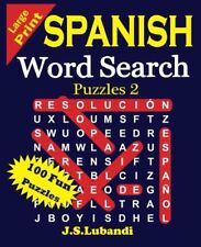 Large Print Spanish Word Search Puzzles 2: Large Print Spanish Word Search Puzzles 2 by J. Lubandi (2015, Paperback, Large Type)
