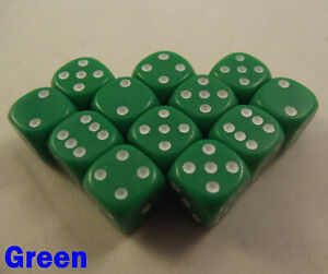 Mixed Dice Dotted 12 x 12mm D6 Random Board Game Monopoly Perudo Warhammer 40000