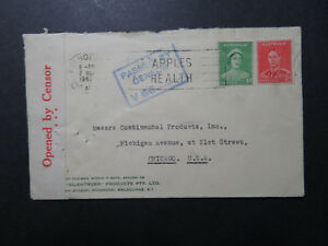 Australia-1940-Censor-Cover-to-USA-Z10825