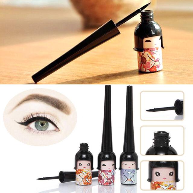 Cute Japanese Doll Waterproof Black Liquid Eyeliner Pen Makeup
