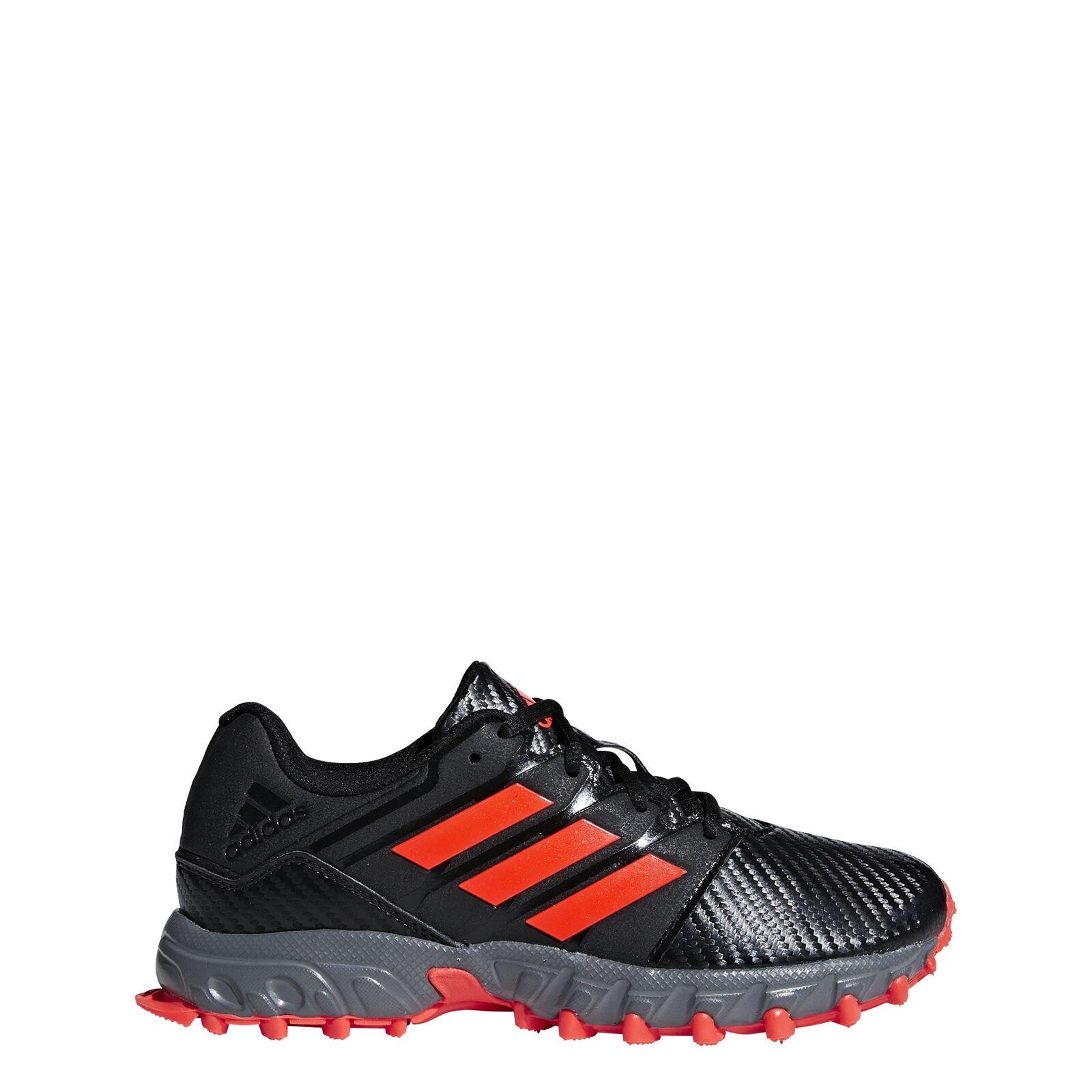 Adidas JR 18 19 19 19  Outdoor Feldhockeyschuhe für Kinder (schwarz rot grau) 0e7d27