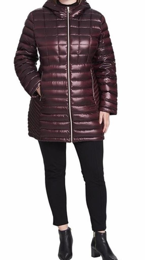 Calvin Klein Winter Hiverwear Puffer lavable en duvet à capuche manteau plus2X $ 280