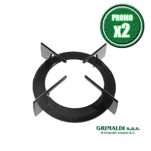GRIGLIA SMALTATA NERA 1 FUOCO PER ARISTON INDESIT 16,5x11,3x4,5 cm PROMO X2