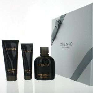 Dolce   Gabbana Intenso Coffret EDP Spray After Shave Balm Shower GEL 3pcs 1c90745bf40b