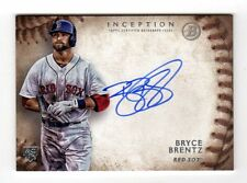 BRYCE BRENTZ MLB 2015 BOWMAN INCEPTION ROOKIE AUTOGRAPHS (BOSTON RED SOX)