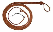 8 Foot Long 12 Plait Tan Real Leather Bullwhip Indiana Jones Stuntman Bull Whip