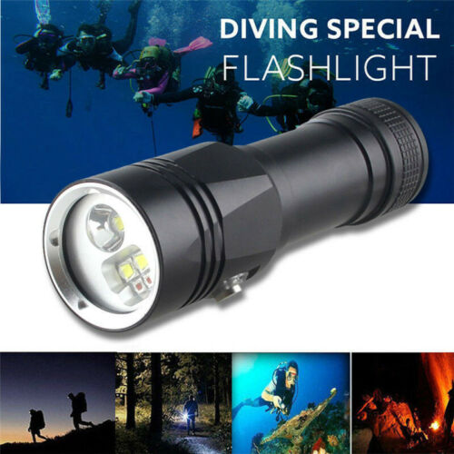 Professional Super Bright LED Diving Flashlight Torch Photography Light Lamp