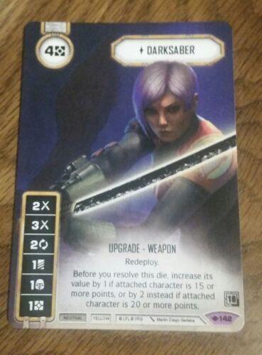 Star Wars Destiny Darksaber Full Art Promo Card 2018 Q3 Tournament Kit FFG