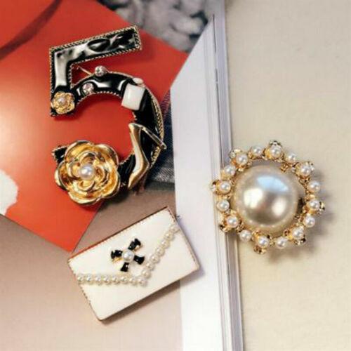 Camellia Broche 3 Num Broche 5 Femmes Charme Sac Pin Pins Broches Pearl sets