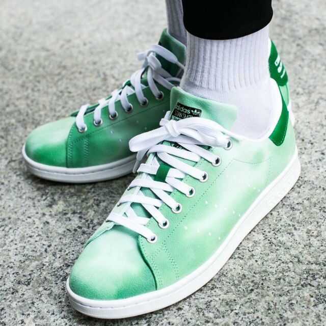 sale retailer c98c2 dd43c adidas Pharrell Williams HU Holi Stan Smith Men's 10 Green Cloud Shoes Kicks