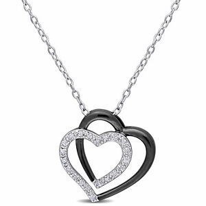 Amour-Sterling-Silver-Black-Rhodium-Plated-Diamond-Double-Heart-Pendant