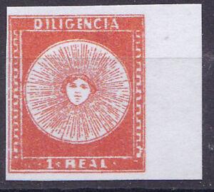 Uruguay-1856-Mi-Nr-3-Diigencia-1-R-Reproduktion