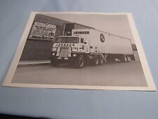 VINTAGE JOHNSON MOTOR LINES CHARLOTTE NC TRUCK PHOTO AND TERMINAL LOCATION FLYER