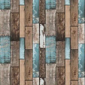 Rouleau Papier Peint Adhésif Effet Bois 45 cm x 10 m pour Meubles, Murs, Maison