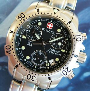 cfe398d2845e WENGER GST Mar Swiss Army Reloj Hombre 27J Chrono ~ ~ Zafiro + ...
