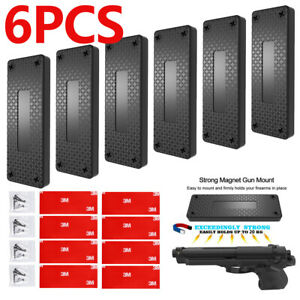 45lb-Gun-Magnetic-Mount-Holder-Holster-Concealed-Pistol-For-Car-Bed-Desk-Table