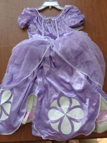 NWT Disney Store Sofia the First cameo costume halloween 9 10 dress up fluffy