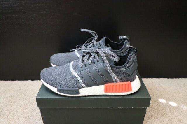 big sale 51b96 73241 Mens Adidas NMD R1 Wool Grey Orange Red New Size 9 S31510 OG