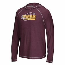 Cleveland Cavaliers NBA Adidas Men Fast Break Climalite Ultimate L/S Hood XL