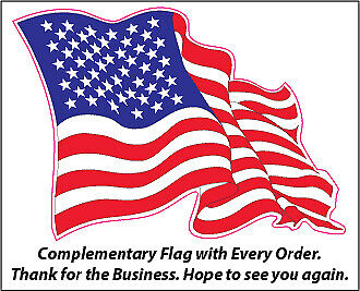"""Home of the Free Because of the Brave Large 12/"""" X 10/"""" Decal"""