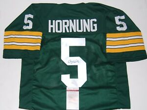Details about PAUL HORNUNG signed (GREEN BAY PACKERS Stiched football jersey JSA WITNESSED