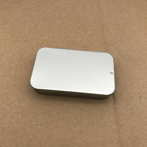 6Pcs Small Rectangular Empty Metal Tins Storage Sliding Cover Box Containers G9X
