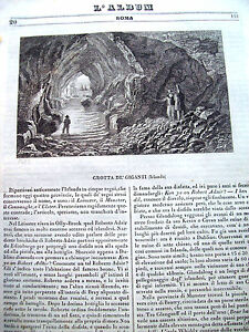 1839-VEDUTA-INCISA-IN-RAME-DELLA-GROTTA-DEI-GIGANTI-IN-IRLANDA-DA-039-L-039-ALBUM-039