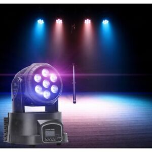 7 LED 105W RGBW LED 4in1 Moving Head Stage Lighting DMX512 Colour Mixing Wedding