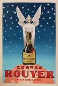 Original-Poster-PUB-TH-Cognac-Rouyer-liqueur-Spirit-Saintes-1945