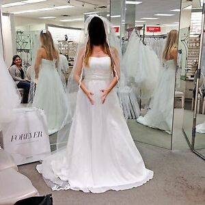 David S Bridal Chiffon Wedding Dress With Empire Waist Style 4xlv9743 Size 6 Ebay