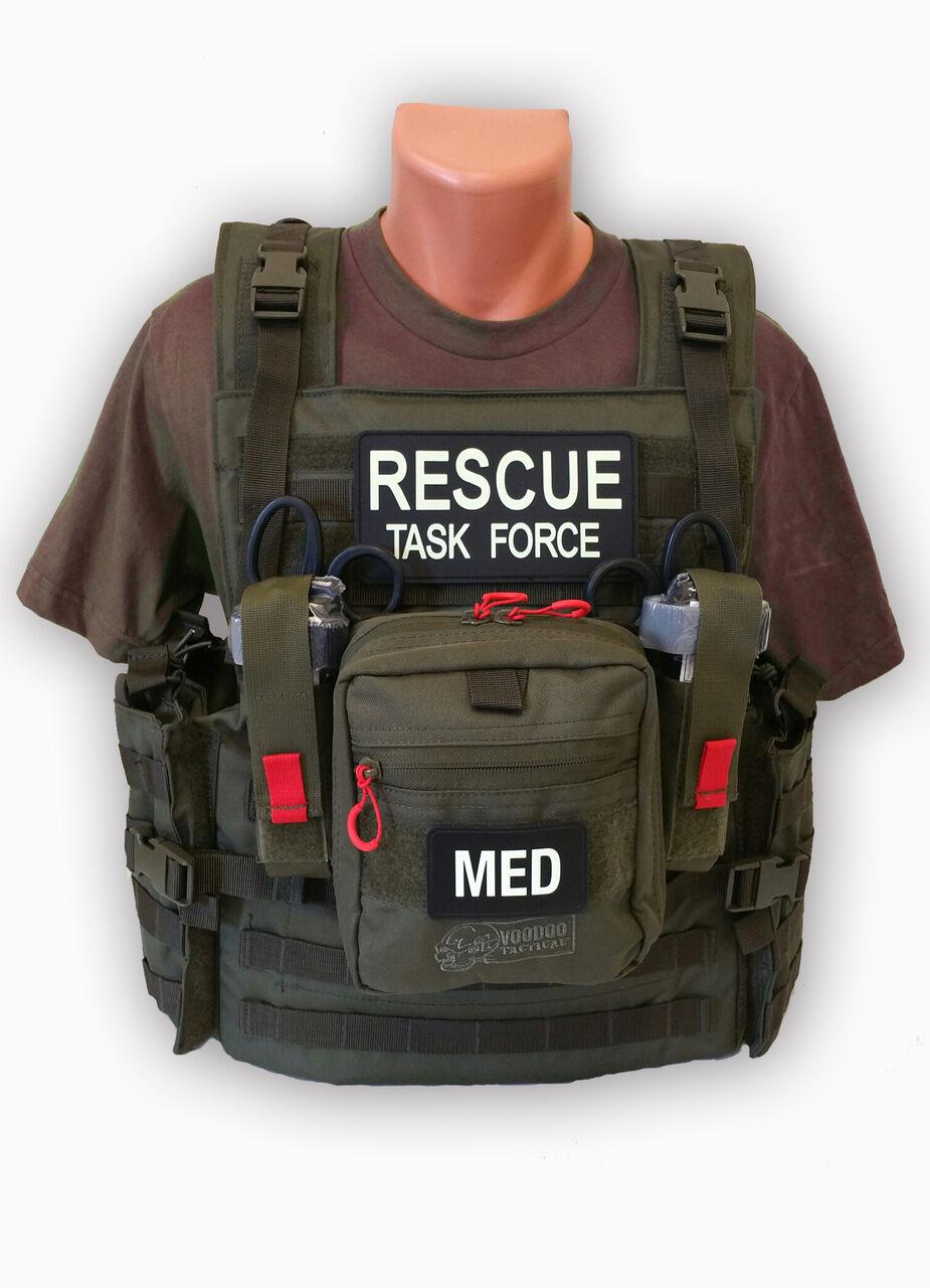 RESCUE TASK FORCE RTF RESPONDER  VEST-OD GREED W MED SUPPLIES (30-0357)  popular