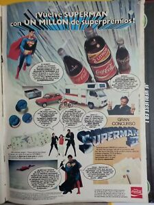 clippings ANUNCIO COCA COLA SUPER MAN SUPERMAN II