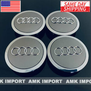 4x-PC-Grey-Chrome-Wheel-Rim-Center-Replacement-Hub-Caps-for-Audi-69MM-4B0601170A