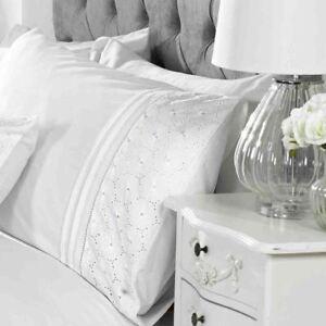 Everdean-Floral-Set-Housse-de-Couette-Simple-Brode-Blanc