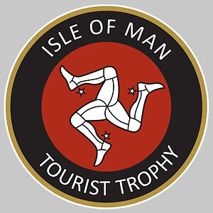 Badges, Insignes, Mascottes Automobilia Devoted Isle Of Man Tourist Trophy Ile De Man Sticker Racing Track 7,5cm Ia049