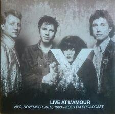 X Live At L'Amour NYC, November 26th 1983 - KBFH FM double LP Egg Raid L.A. Punk