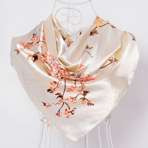 Snake Print Black Satin Square Scarves Ladies Headscarves Winter Women Shawls