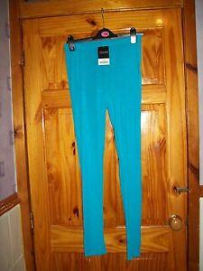 *** Look ** Nouveau ** Bleu/aqua Leggings Long Taille 18 Free P&p Royaume-uni Uniquement *