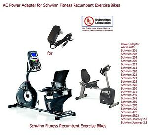 AC Power Adapter Power Supply for Schwinn Recumbent Exercise Bikes