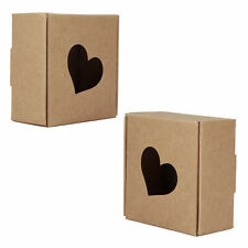 50pcs Kraft Paper Hand Made Packing Box Wedding Favor Jewelry Gift Packing