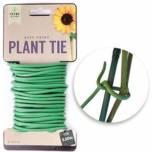 Charmant 5.5m Garden Thick Soft Twist Plant Support Tie Coated Wire Durable Reusable Wire